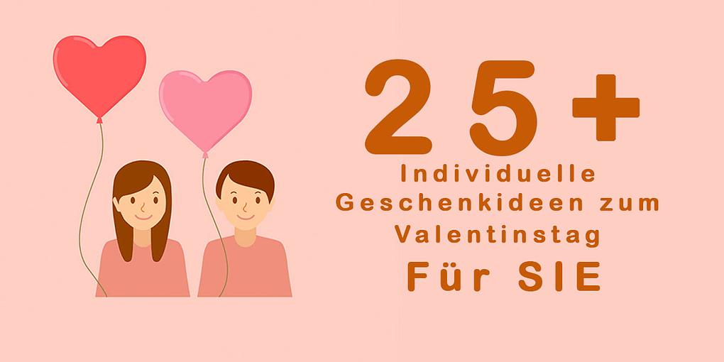 25 Geschenkideen zum Valentinstag für Sie Banner